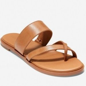 Cole Haan Felicia Leather Thong Sandal Pecan